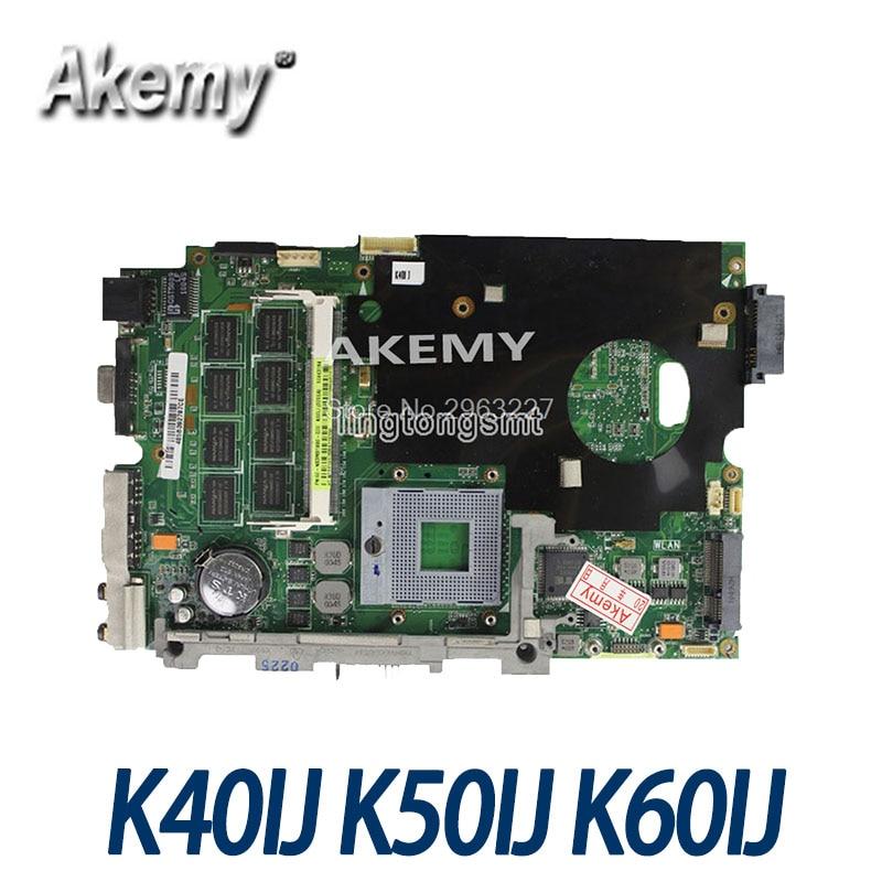 Amazoon K40IJ placa base de Computadora Portátil para ASUS K40IJ K50IJ K60IJ X5DIJ K40AB K50AB K40 K50 prueba placa base original de
