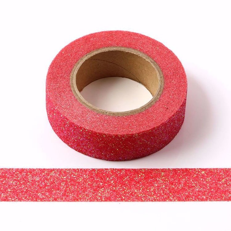 10pcs/Lot Red powder Washi Tape Glitter Japanese Stationery 15mm* 5meter Kawaii Paper Scrapbooking Tools Decorative Tape Mask