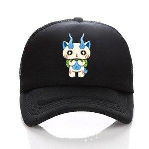 anime Youkai Watch hat cosplay Print Summer Mesh Hats Men Women Snapback Gorras Hombre cap