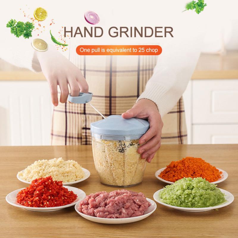 Manual de frutas vegetal chopper mão puxar cortador alimentos cebola nozes moedor triturador multifuncional cozinha acessórios