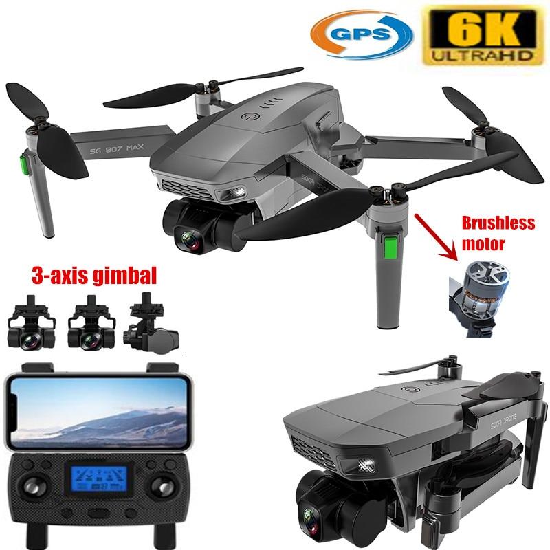 Profissional de 5g Gps com 6k Drone Wifi Central Cardan Câmera Voar 28 Minutos Brushless Motor Auto Estabilização Quadcopter Fpv Dron 3-linha