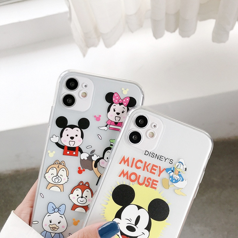 Disney certified phone case is suitable for iphone 11 pro max case 6S/7/8P/X/XR/XS/XSMAX/11/12Pro cute Mickey phone cover  - buy with discount