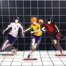 Amour merci Haikyuu Hinata Kageyama Tsukishima Sugawara famille acrylique support Figure modèle support de plaque Topper Anime Karasuno