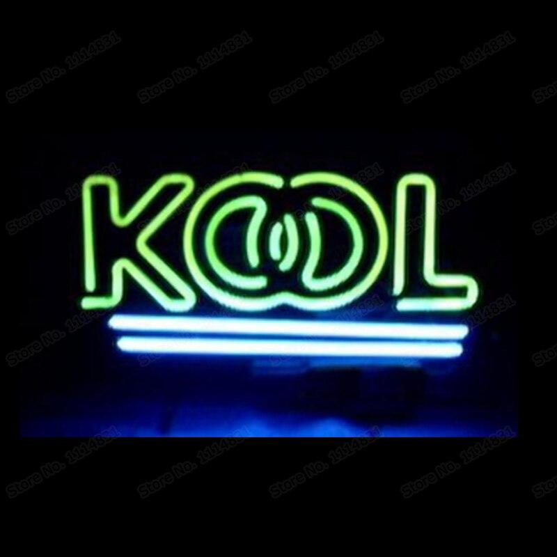 KOOL-علامة نيون للسجائر ، أنبوب زجاجي مصنوع يدويًا مخصص ، بار ، متجر موتيل ، KTV ، زخرفة ، لافتات نيون 17 بوصة × 10 بوصة