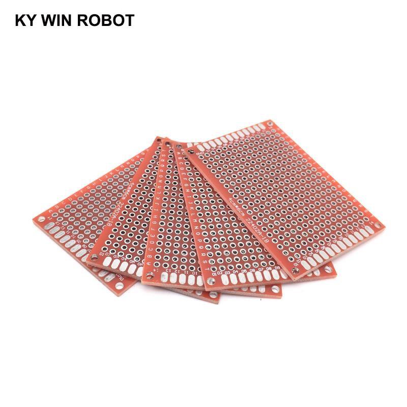 5 uds placa electrónica PCB 4x6cm Diy placa de circuito impreso Universal 4*6cm doble cara prototipado PCB para placa de cobre Arduino