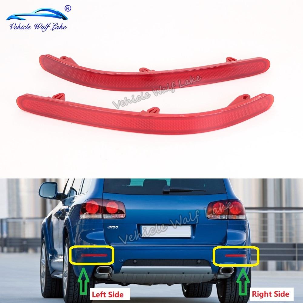 Para vw touareg 2007 2008 2009 2010 pára-choques traseiro refletor cauda barras de luz freio estacionamento aviso