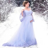 2020 a line wedding dress flare sleeve bridal gown for pregnant plus size appliques wedding dress