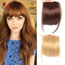 "Leeons Natural Blunt Bangs Clip-In Dark Light Brown Black Synthetic False Hair Fringe Pure Colors 6"" Flat Bang Hair Pieces"
