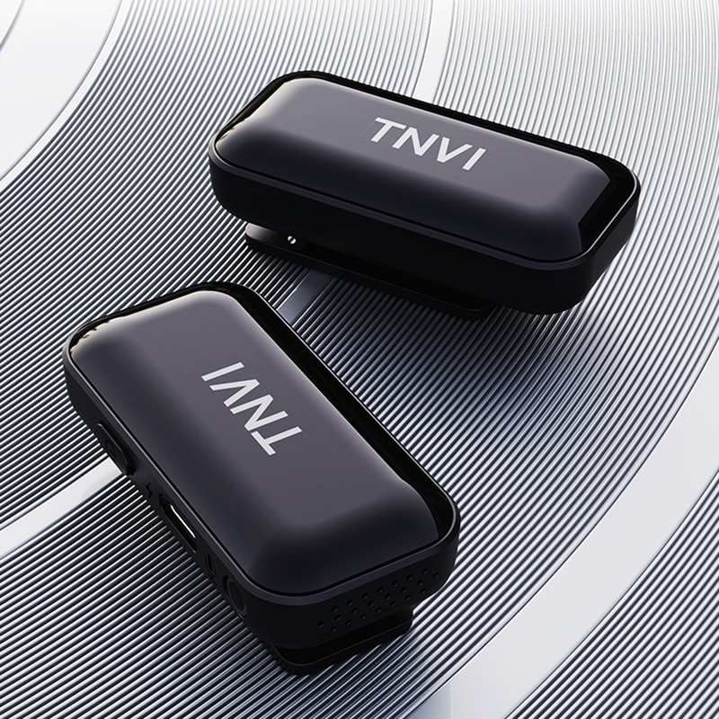 TNVI V3 Wireless Microphone System With Rechargeable Transmitter Receiver Lapel Lavalier Microphone For Smartphone (1 For 2) enlarge