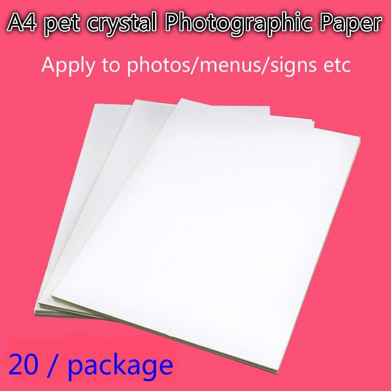 50 шт., самоклеящаяся водостойкая Магнитная струйная пленка для печати с наклейкой на заднюю панель, блестящий постер rc для фотографий, бумаг...