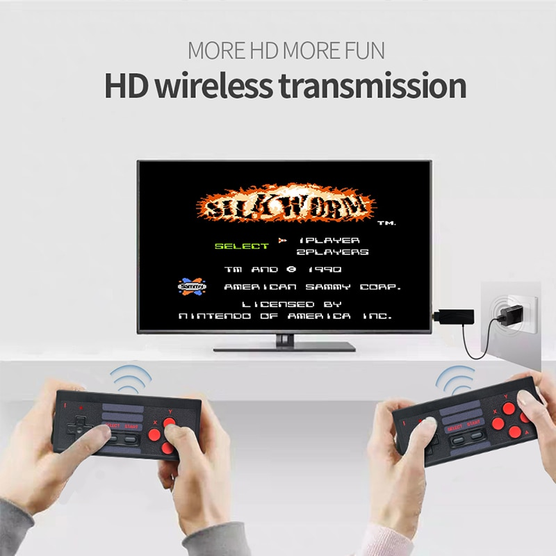 4K HD Video Game Console Built in 628 Classic Games support Dual Wireless Controller HD Output handheld game player enlarge