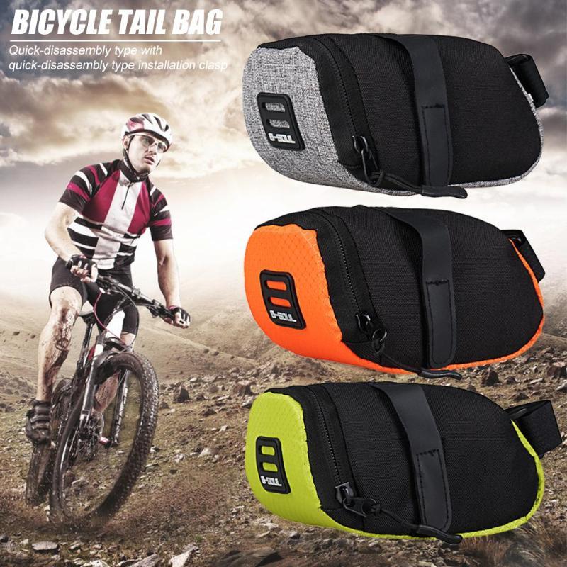 Bolsa de almacenamiento de Nylon para Bicicleta, asiento de la Bolsa de Silla, Bolsa trasera para ciclismo, accesorios para Bicicleta, 6 colores