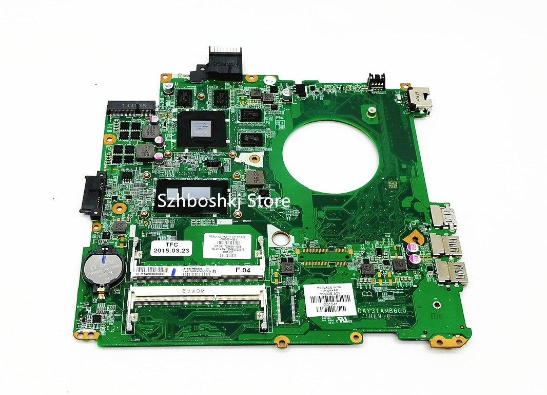 شحن مجاني ل HP 14-U TPN-Q140 768005-501 768005-001 اللوحة المحمول DAY31AMB6C0 مع i7-4510U DDR3L 850M 4GB 100% اختبار