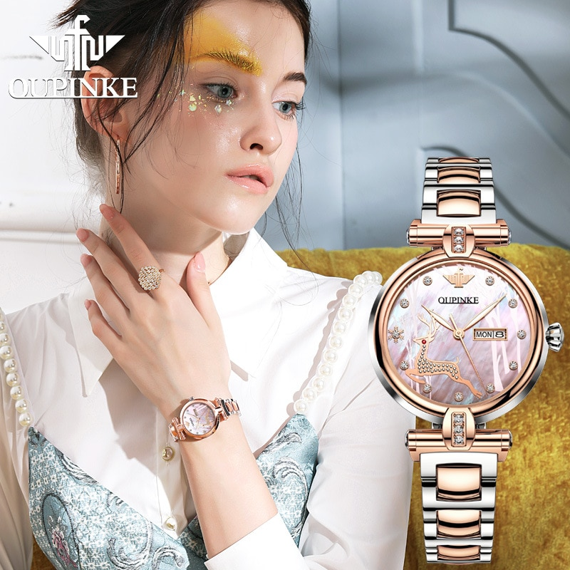 Tide brand ins wind automatic mechanical watch waterproof ladies watch