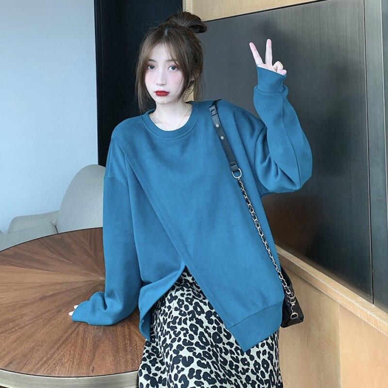 Women's Skirt Suit Autumn Korean 2021 New Lazy Style Design Sense Cross Thin Hat Less Popular Long Sleeve Top Trend