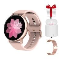 women smart watchstrapearphoneset female smartwatch measure pressure oxygen fitness tracker for samsung huawei iphone vs sg2