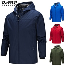 Brand New Waterproof Hooded Jacket Windbreaker Men 2021 Spring Casual Windproof Jacket Coat Outdoor