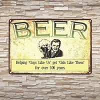 vintage retro wall decor tin signs free beer tomorrow decorative metal sign for homepub cafe and hotel8 x 12 inches 2030cm