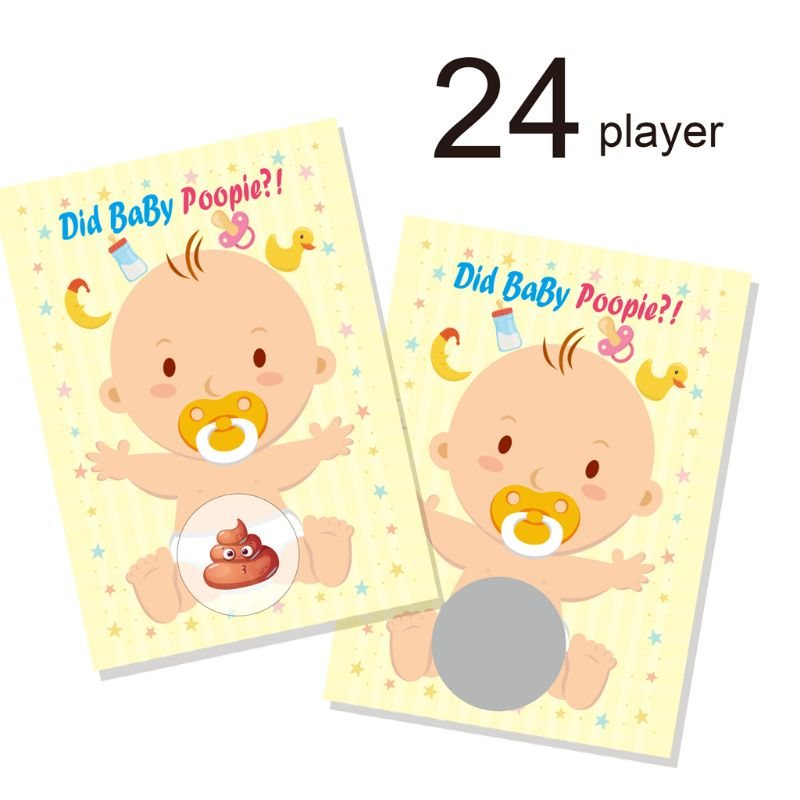 Baby Shower Scratch Off Game Lottery Ticket Raffle Cards Gender Neutral Funny Activity for Diaper Raffles Ice Breakers du boisgobey fortuné the red lottery ticket