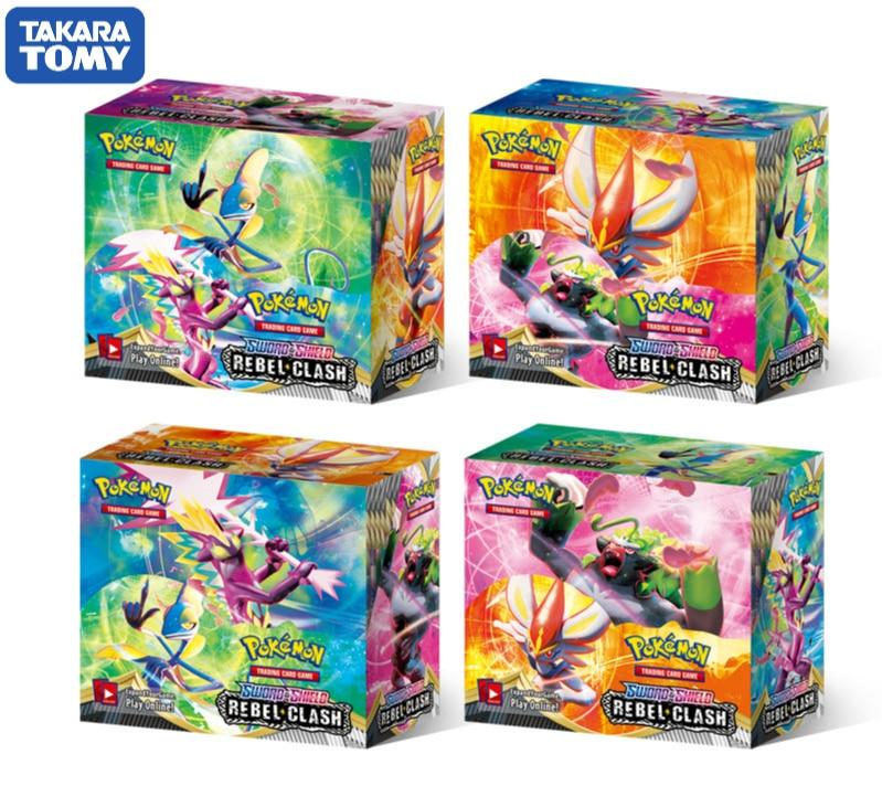 2020 Nieuwe 324Pcs Doos Pokemon Tcg zwaard & Schild Rebel Clash Booster Box Collectible Trading Card Game Set Pokemon Kaarten Anime