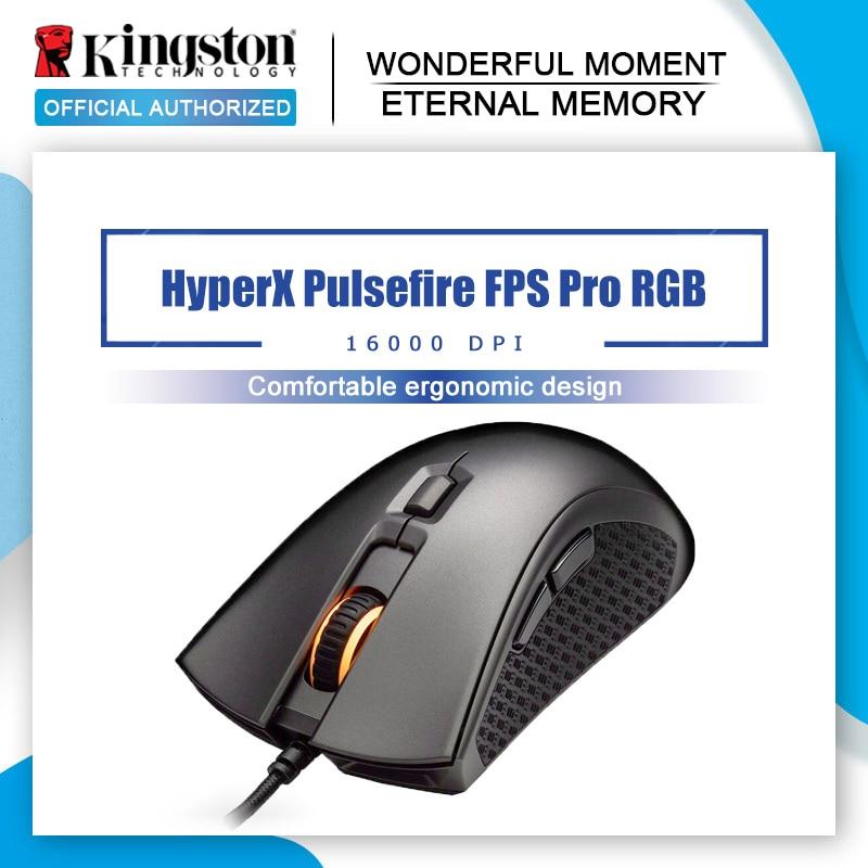Kingston RGB beruf E-sport maus HyperX Pulsefire FPS Pro Gaming Maus Pixart 3389 sensor mit native DPI up zu 16000