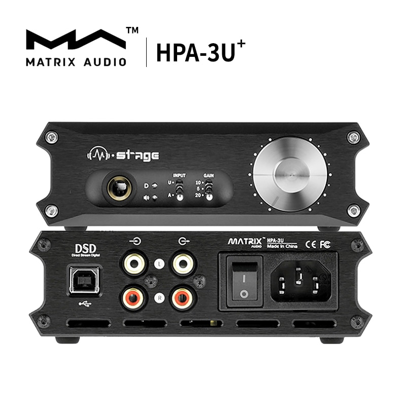 مصفوفة M-مرحلة HPA-3U ⁺ الفئة (أ) سماعة مكبر للصوت HPA-3U USB DAC فك
