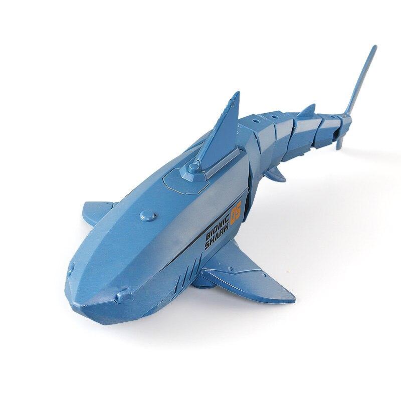2.4G RC Shark Fish Boat Remote Control Bait Boat Mini Radio Electronic Shark Fish Boat Toy Simulatio