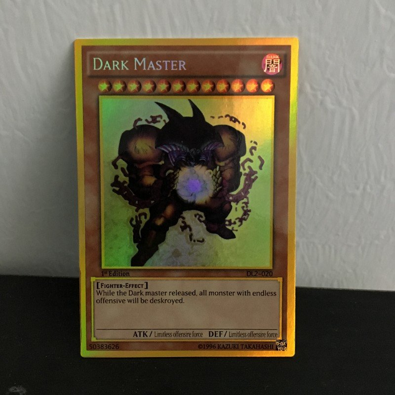 Фото - Yu Gi Oh DIY special production DARK MASTER hobby collection card allison west dark captive collection