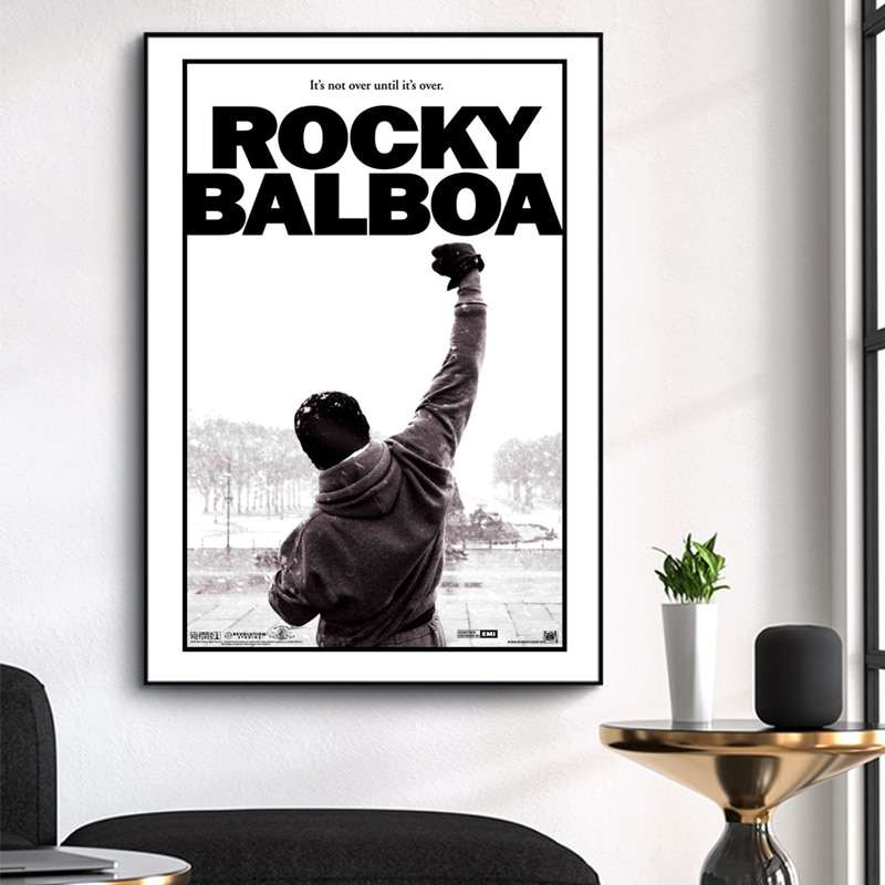 Rocky Balboa 1976 Movie Classical Posters Wall Art Pictures Decorative Canvas Paintings Decoration Living Room Home Decor