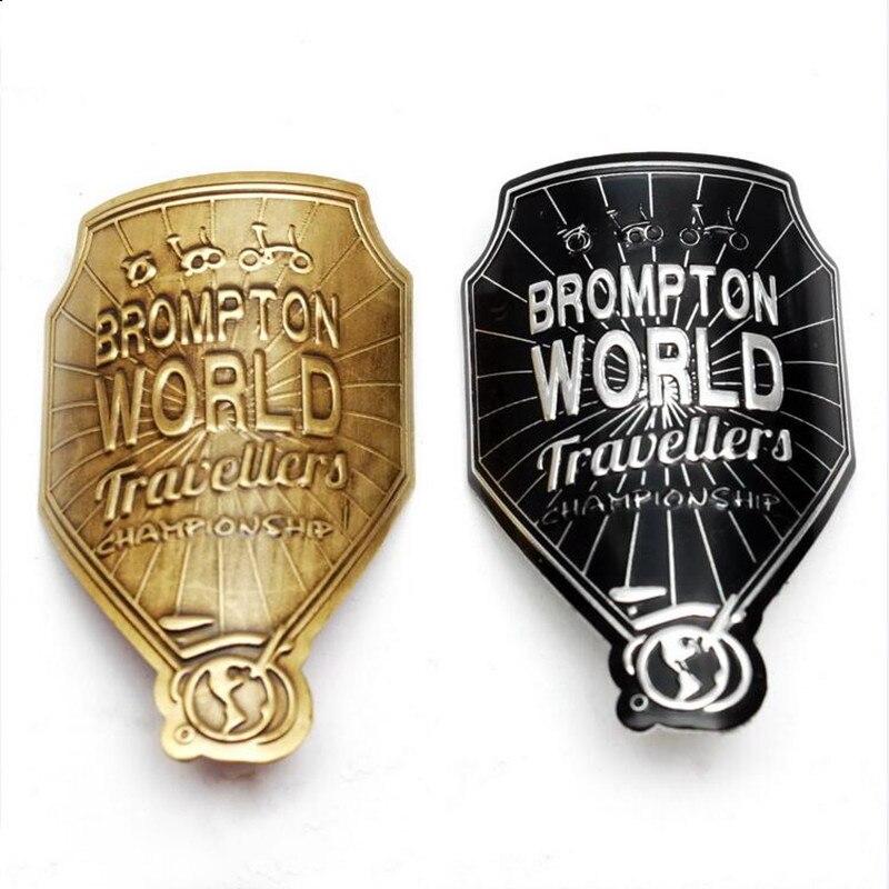 Folding bicycle decorative sticker metal for brompton bike frame decoration standard gold black