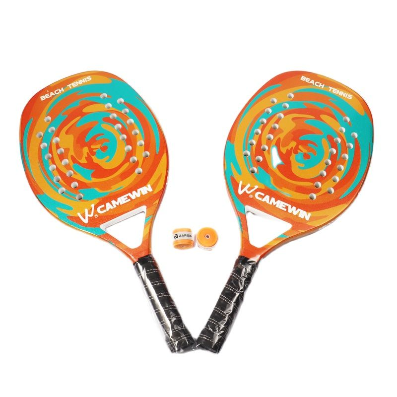 2021Adult Professional Full Carbon Beach Tennis Paddle Racket Soft EVA Face  Raqueta With Bag Unisex Equipment  tennis racquet