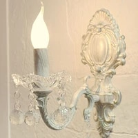 nordic candle crystal wall lamp bedroom living room background wall old retro aisle lamp bedside lamp e14 led wall light