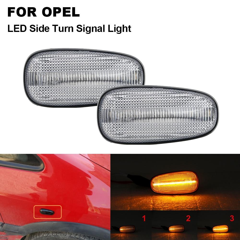 2 uds llevó señal indicador lateral secuencial luz para Opel Astra G Zafira un velocista Cadillac STS XLR XLR-V Chevrolet