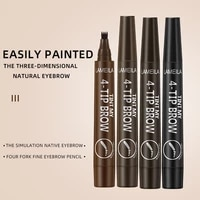 micro sculpted water pattern eyebrow pencil four end bifurcated long lasting waterproof and sweat proof eyebrow pencil makeup