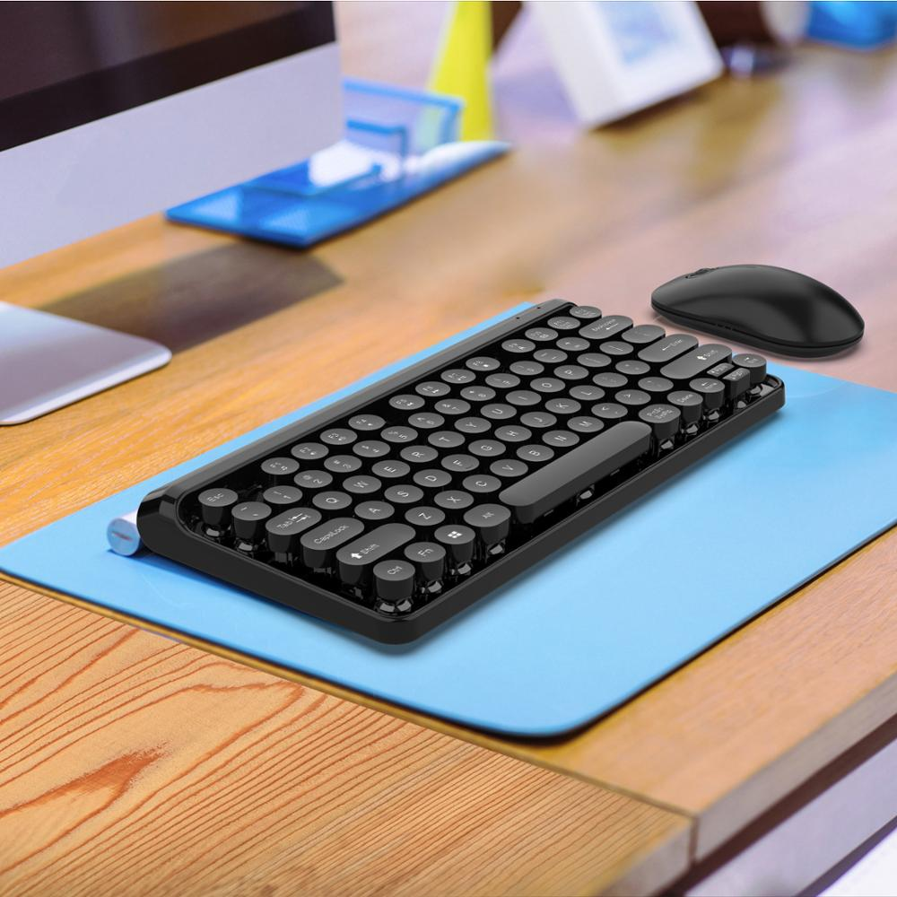 Conjunto Combinado de ratón y teclado de 2,4G teclado inalámbrico Multimedia y ratón para ordenador portátil Mac ordenador de sobremesa TV suministros de oficina