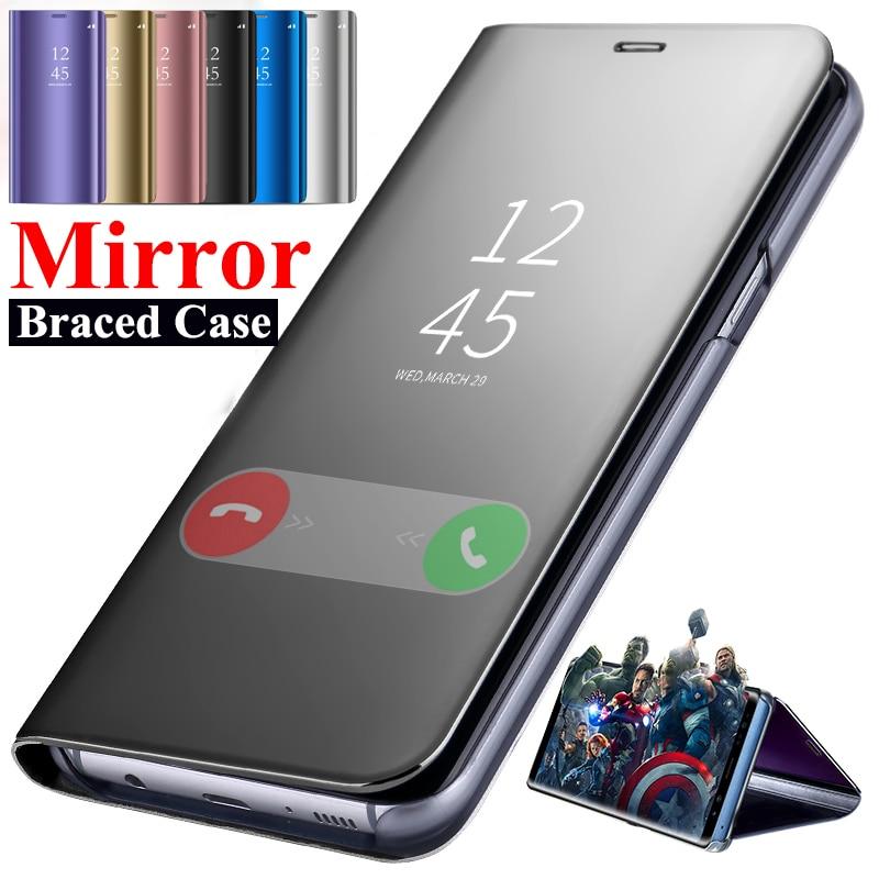 Funda de teléfono con espejo inteligente de lujo Folio para Huawei P20 Lite Pro Funda de cuero con tapa Huaweii P 20 soporte protector