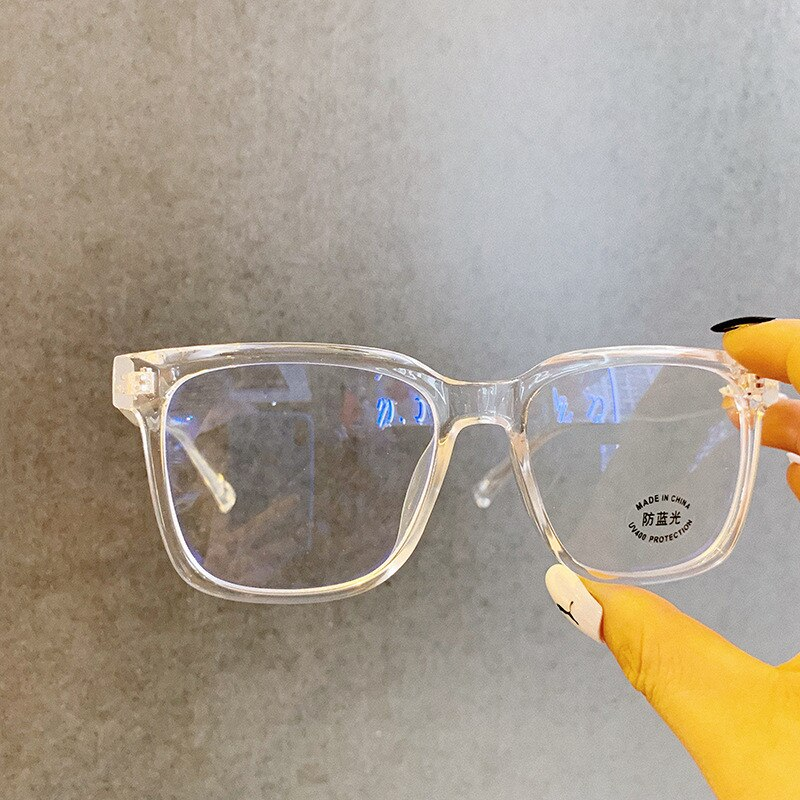 Gafas ópticas transparentes Anti Blue Light para mujer, gafas ópticas para hombre y mujer, montura cuadrada para miopía, gafas