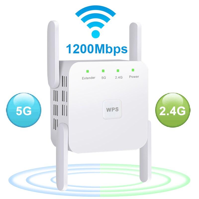 5 Ghz WiFi Repeater Wireless Wifi Extender 1200Mbps Wi-Fi Amplifier 802.11N Long Range Wifi Signal Booster 2.4G Wifi Repiter