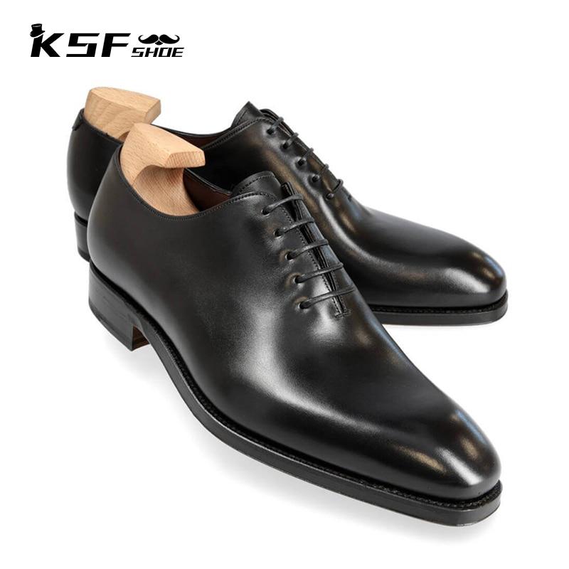 الفاخرة أكسفورد حقيقية أحذية من الجلد الرجال 2021 الأصلي اليدوية الزفاف حذاء رجالي مصمم الكلاسيكية فستان رسمي مكتب الأحذية