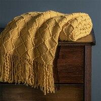 Летнее вязаное одеяло с воздушным кондиционированием, покрывало для дивана и кровати, покрывало для пикника, самолета, механическая стирка,...
