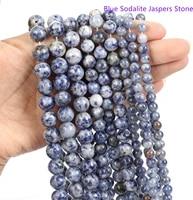 lw002 6810mm blue sodalite jasper beads for jewelry making energy stone healing powerenjoy diy fun