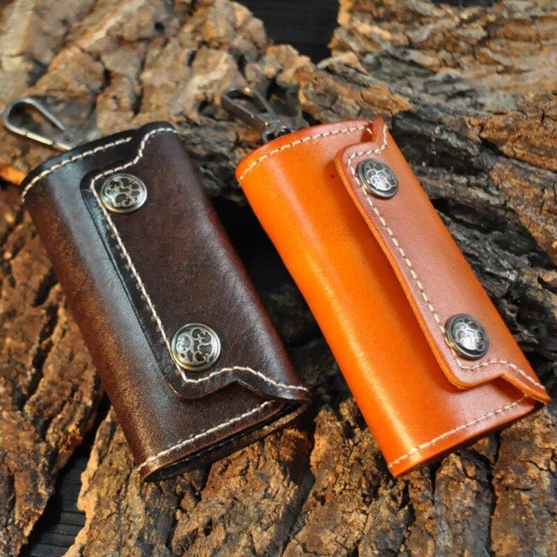 Men Women Car Key Holder Keys Organizer Money Bag Wallets  Packet Leather Men Key Ring Bag Wallets