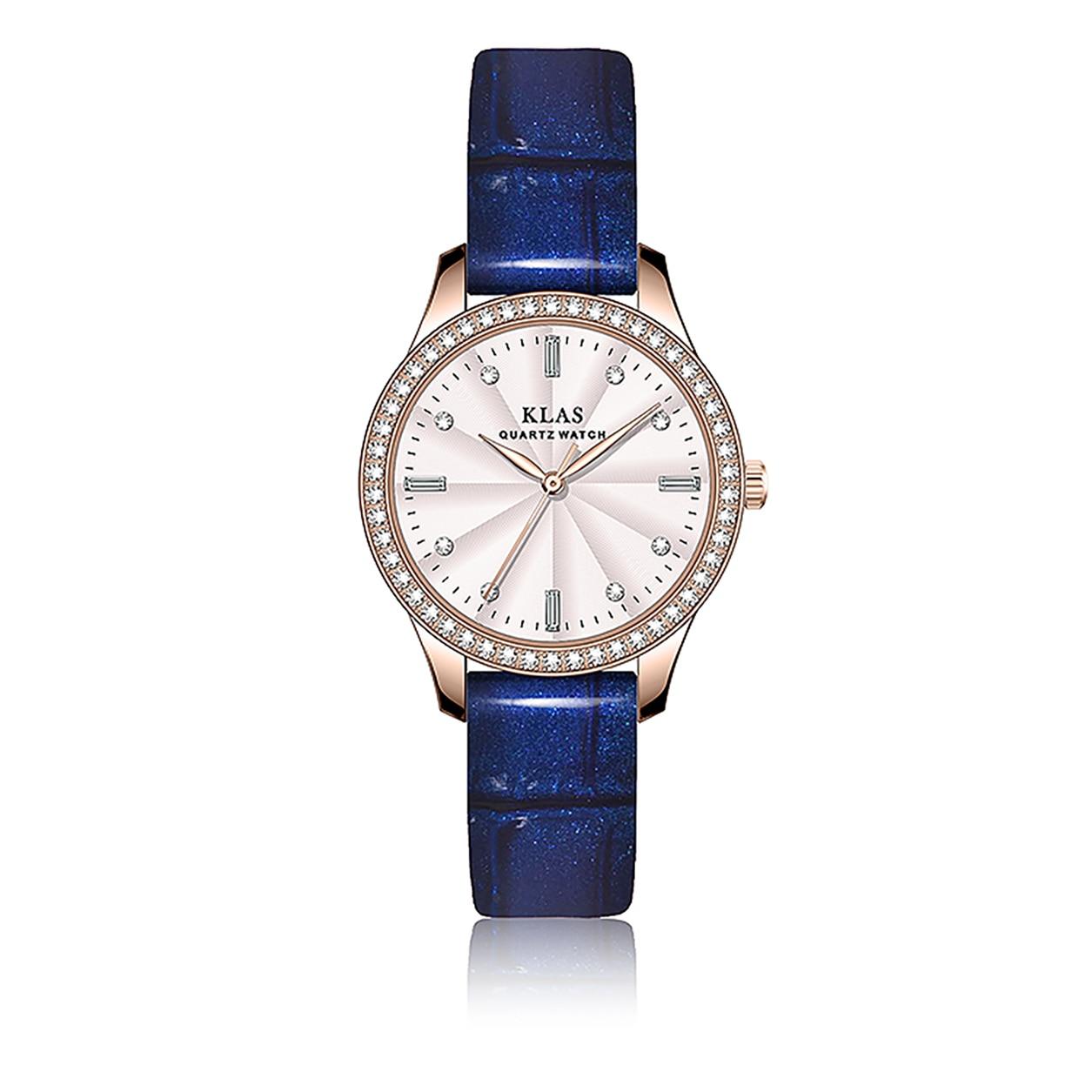 ساعة كوارتز للسيدات إبرة مشبك نوع Shetton حافظة معدنية غير قابلة للصدأ الحياة مقاوم للماء هدية عيد الحب المعلقة KLAS العلامة التجارية