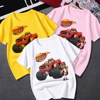 blaze and the monster machines childrens clothes boy impostor blaze game anime t shirt boy or girl tees top short sleeve tshirt