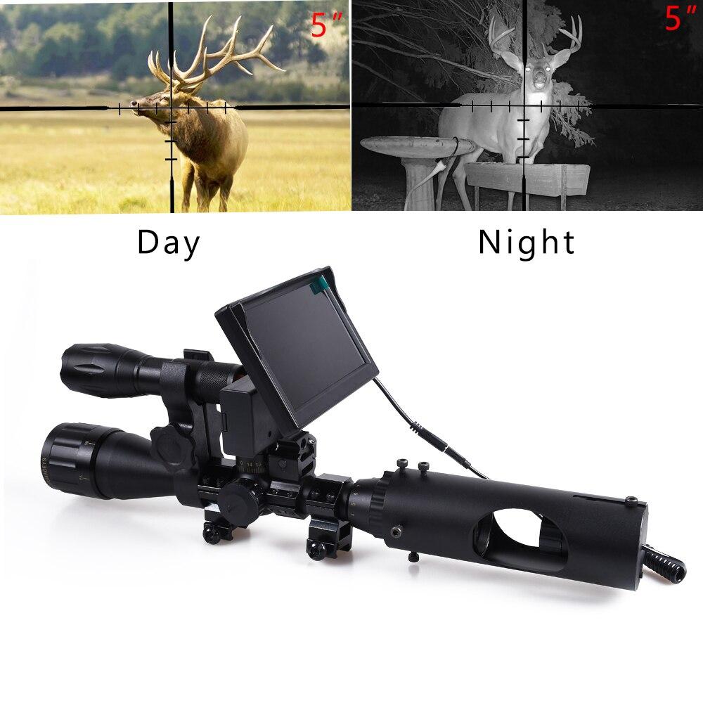 Охотничий прицел ночного видения тактические прицелы Оптика прицел 850nm Инфракрасные светодиоды ИК Водонепроницаемая Охотничья камера прицел устройство