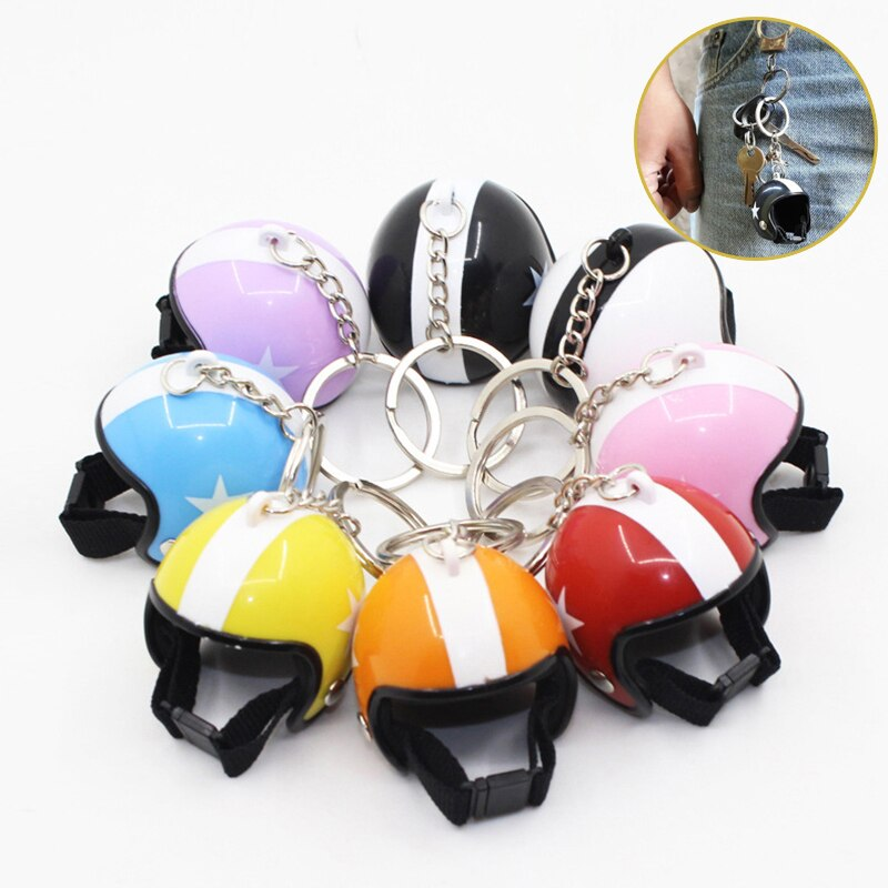 Bonito llavero con forma de casco para motocicleta, llavero con anilla para coche, juguete para niños, bolso para mujer, regalo de joyería, decoración 2020