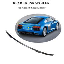 for Audi R8 Coupe spoiler 2016-2019 carbon fiber rear wing rear spoiler lip
