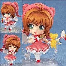Mini dessin animé japon Anime carte capteur Sakura figurine Kinomoto sakura PVC Figure 400 Q Ver modèle Cosplay décoration jouet 10cm