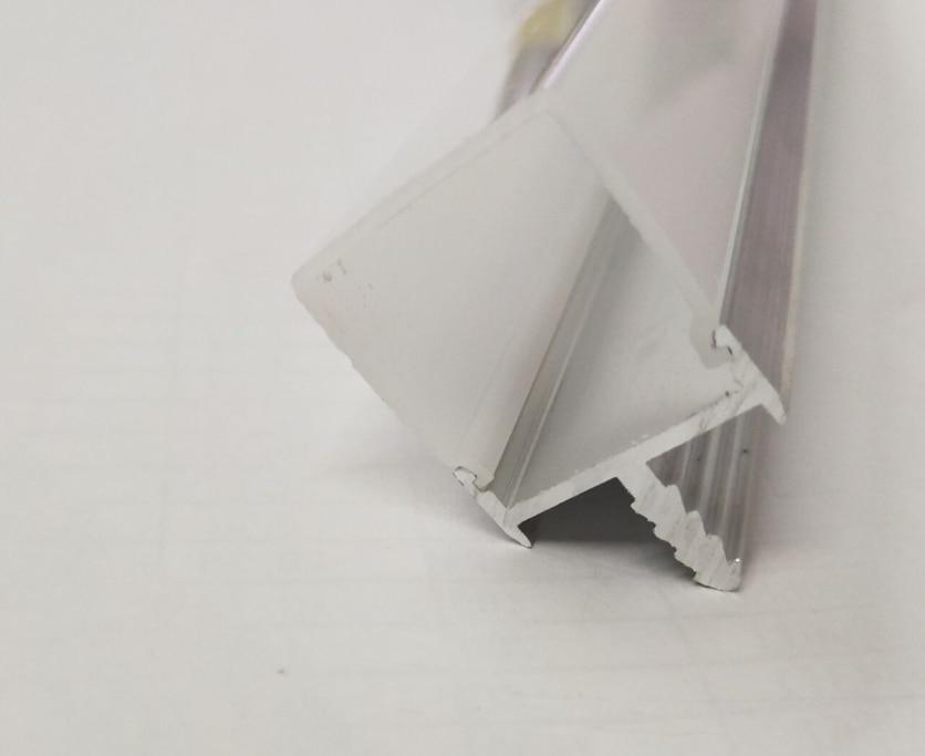 Envío gratis 2 m/unids 40 m/lote tamaños personalizados aluminio LED perfil aluminio canal para tira LED
