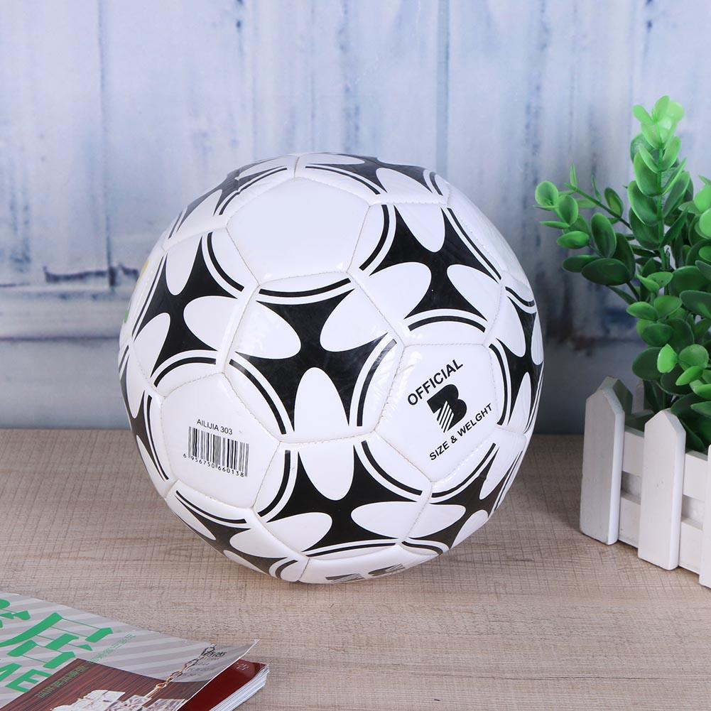 Classic Size 3 Black White Football Soccer Balls Goal Team Match Training Balls Student Team Training Children Match